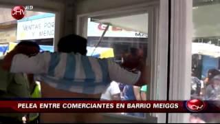 Brutal pelea en el Barrio Meiggs genera conmoción entre locatarios y compradores - CHV Noticias