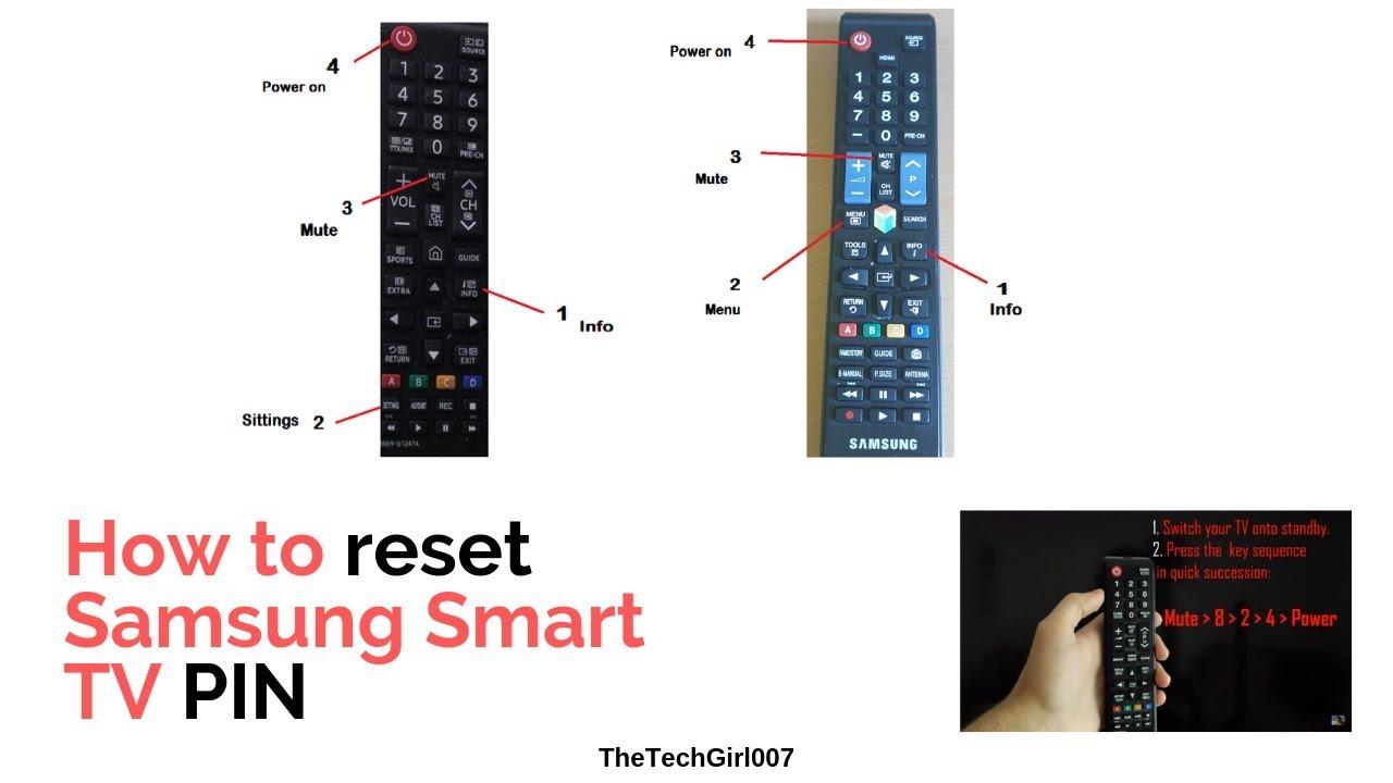 3 ways to Reset Samsung Smart TV pin