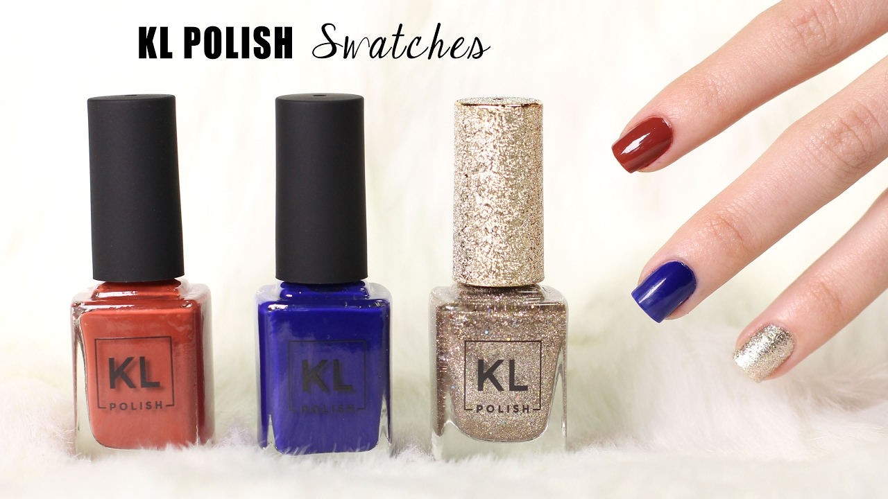 KL Polish LIVE SWATCHES - Pale Skin || Lucykiins - YouTube