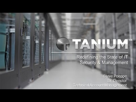 2015 Trending Technologies  Luncheon Presentation by Tanium's Sr. Director Steve Poppe