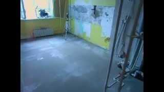 видео Гидроизоляция стяжки пола