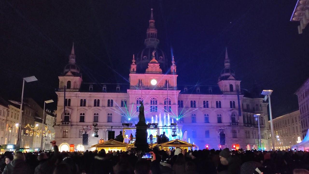 Silvester in Graz - Fotos & Video vom Höhepunkt zum Jahreswechsel