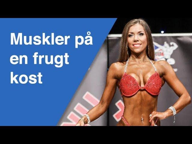 Hun bygger muskler på en frugtkost (Bikin fitness konkurrencer)
