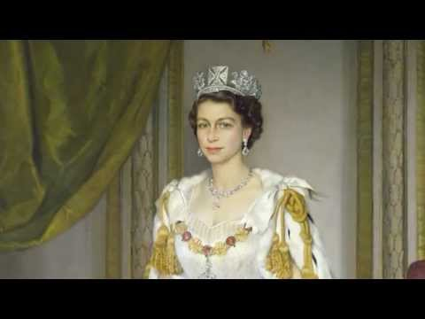 Royal Collection: Queen Elizabeth II in Coronation Robes, Sir Herbert James Gunn
