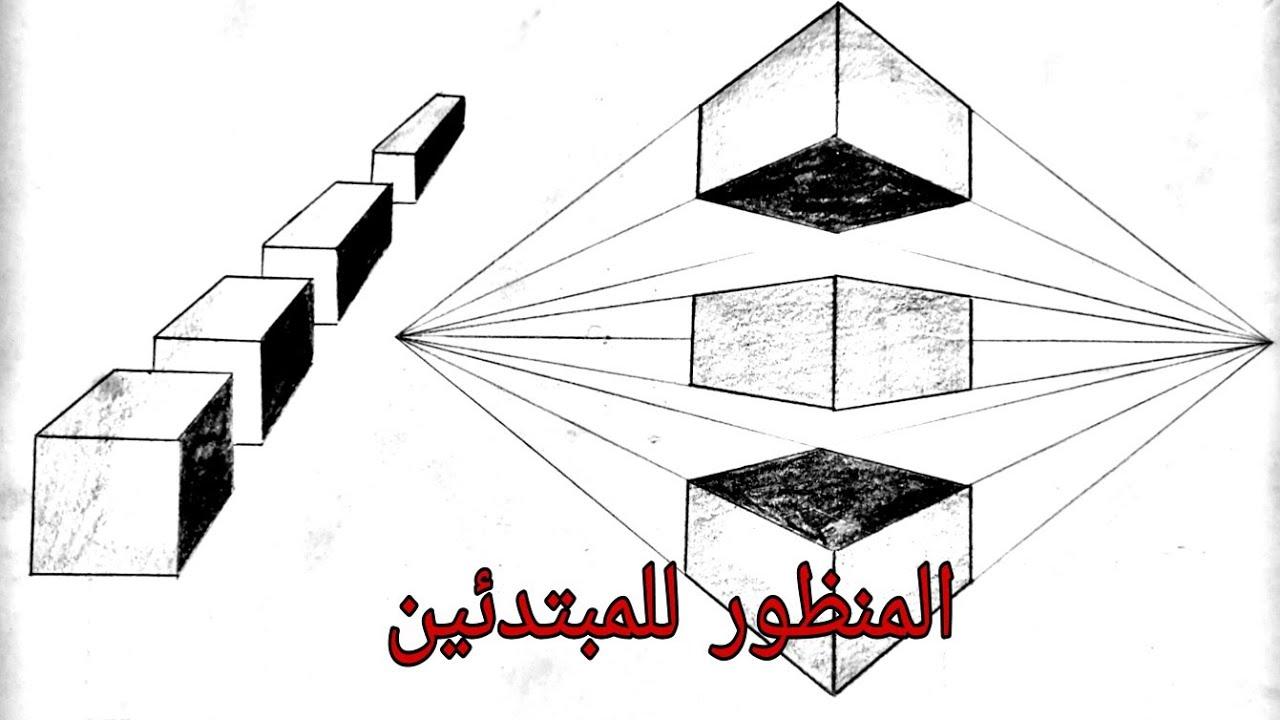 رسم سهل ١ تعلم رسم المكعبات بالمنظور من نقطة واحدة ونقطتين تلاشي Explaining Perspective Youtube