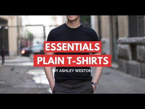 Plain T-Shirts - Men's Wardrobe Essentials - V-Neck, Crew Neck, Designer, Budget, Cheap