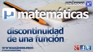 Funcion a trozos Discontinuidad 02 BACHILLERATO matematicas