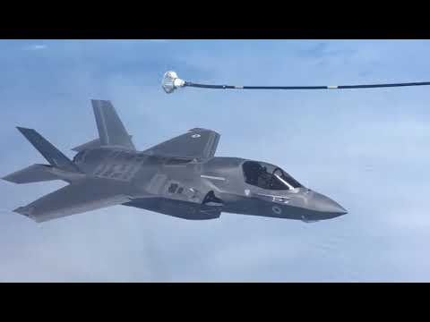 Неудачная воздушная дозаправка F 35попала навидео