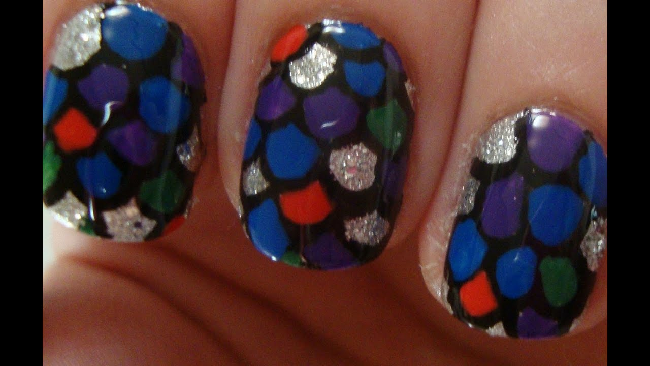 the rainbow fish book inspired nail art youtube - Colorful Fish Book