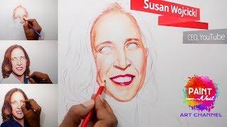 YouTube CEO Susan Wojcicki Drawing   Online art Classes