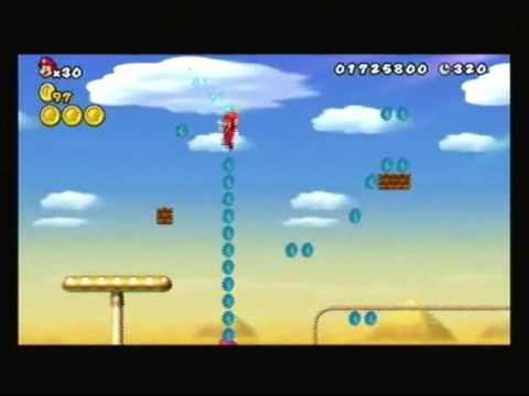 New Super Mario Bros Wii Walkthrough World 2 6 How To Get The Warp Cannon Goal Youtube