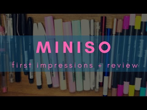 MINISO - first impressions + review