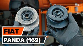Jak i kiedy wymienić Górne mocowanie amortyzatora tylne i przednie FIAT PANDA (169): instrukcje wideo