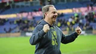 Alexander Zorniger modtog Brøndby Stadions hyldest