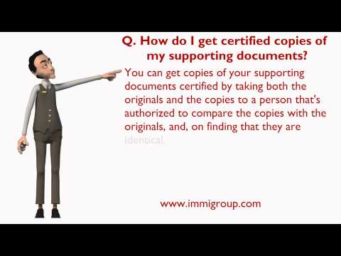 How Do I Get Certified Copies Of My Supporting Documents?