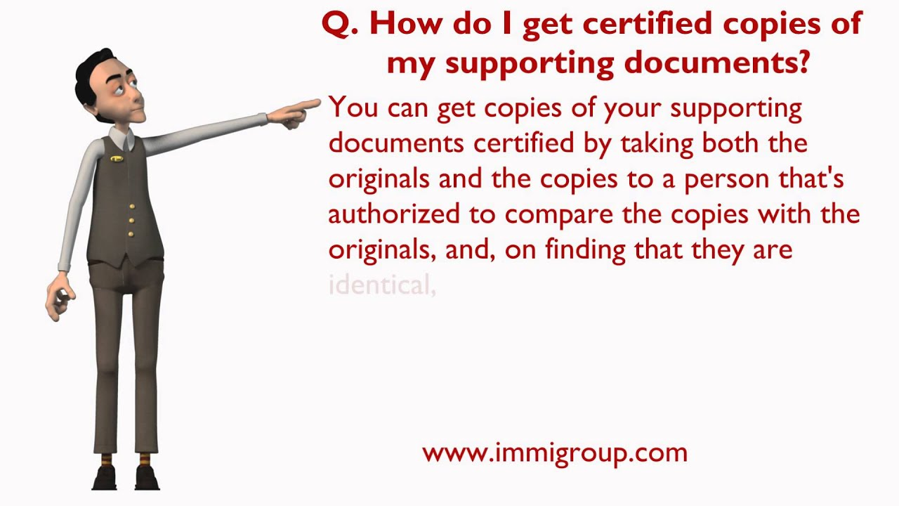 How Do I Get Certified Copies Of My Supporting Documents Youtube