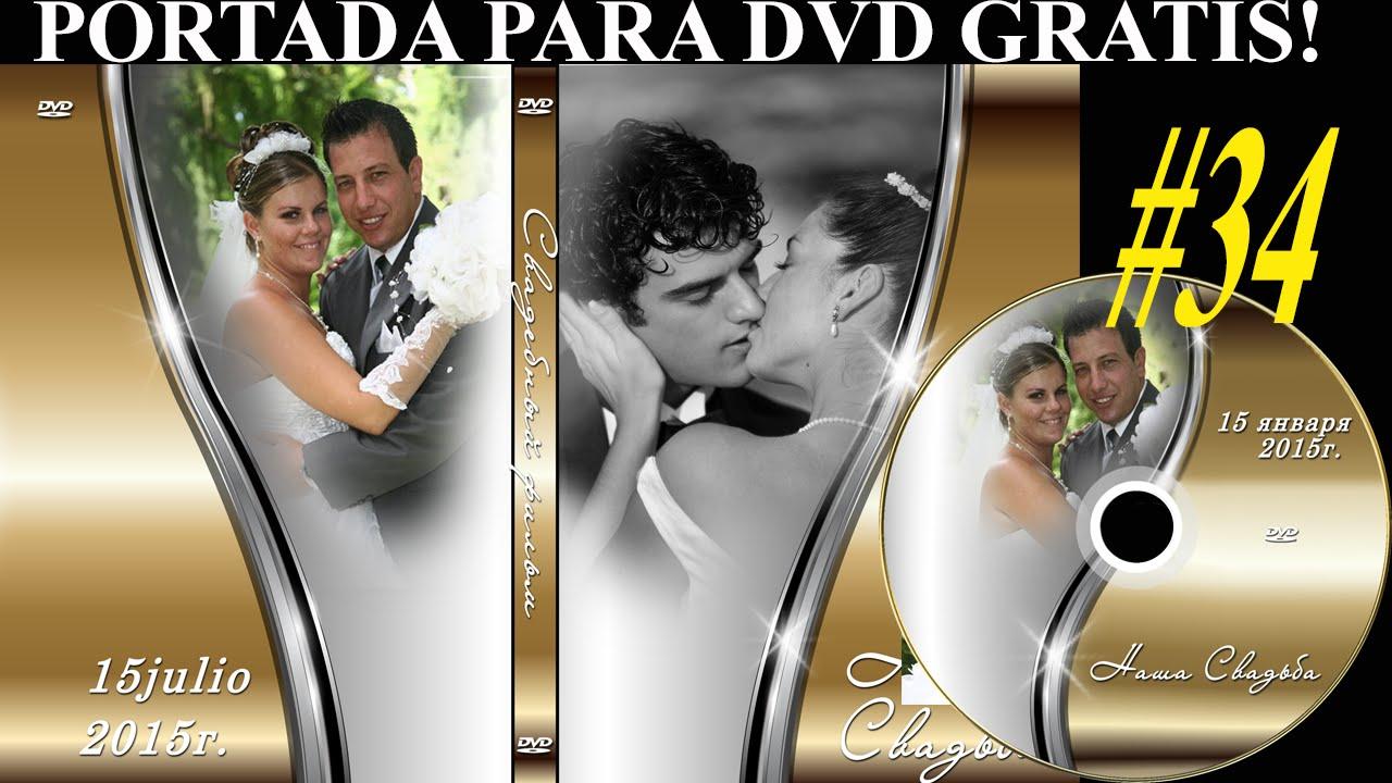 Plantillas psd para crear Portada y etiqueta DVD - MATRIMONIO - YouTube