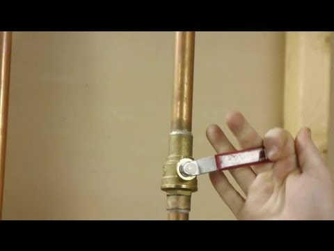 Water Heater Shut Off Valve Recommendations Water
