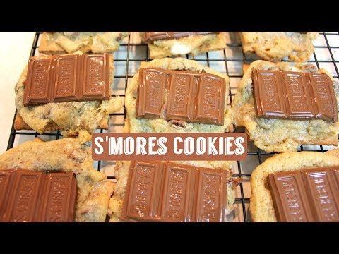 Smores Cookies: Marshmallow Cookies With Chocolate Chips (S'mores Cookie Recipe)