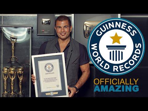 Amr Diab Achieves A Guinness World Records Title عمرو دياب أول مطرب عربي في موسوعة جينس