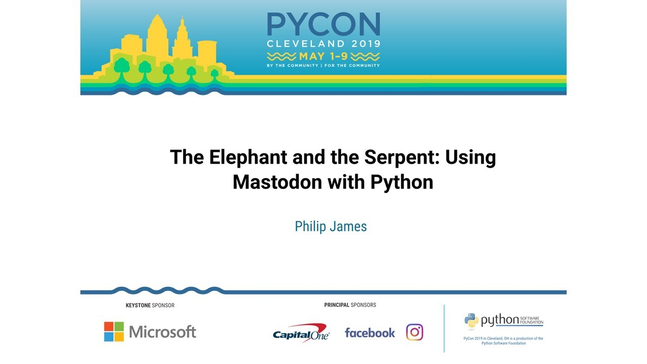 Image from The Elephant and the Serpent: Using Mastodon with Python