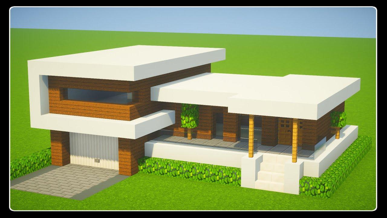 Tuto Belle Maison Moderne Facile A Faire Minecraft