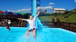 خافت في الحديقة المائية !! Funny Kids water park playground pool