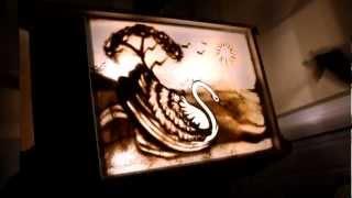 рисование песком на стекле клуб Step Up