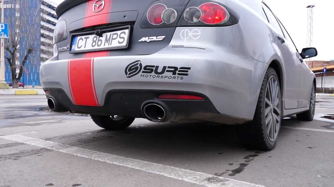 Free Flow Exhaust >> Mazda 6 MPS exhaust sound with Borla Mufflers and Sure Flow M6 TestPipe - YouTube
