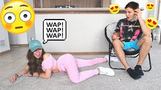 """DOING THE """"WAP"""" DANCE IN FRONT OF MY BOYFRIEND TO SEE HOW HE REACTS..."""