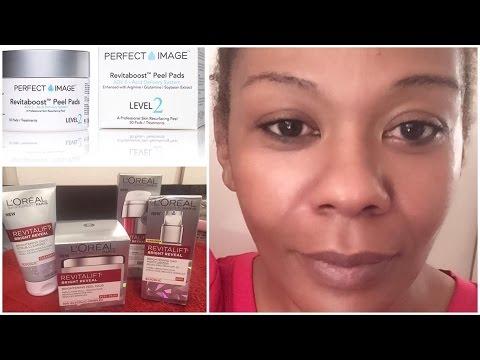 GLYCOLIC ACID PEEL | Loreal Revitalift Bright Reveal Skincare Line | Review/Demo