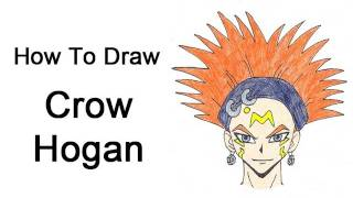 How to Draw Crow Hogan (Yu-Gi-Oh! 5D