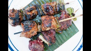 Andrew Zimmern Cooks: Chicken Thighs & Livers with Yakitori Sauce