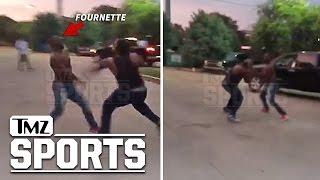LSU's Leonard Fournette: Street Fight vs. Teammate...Or Horseplay??   TMZ Sports