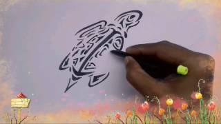How to draw a tortoise (Tribal)