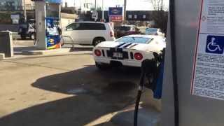 Ford GT - At Gas Station -Startup & Driving