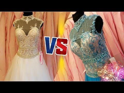 dress-no.58-|-blue-or-white-??-|-morilee-paparazzi-high-neck-tulle-ballgown-|-ابيض-او-ازرق-؟؟-فستان