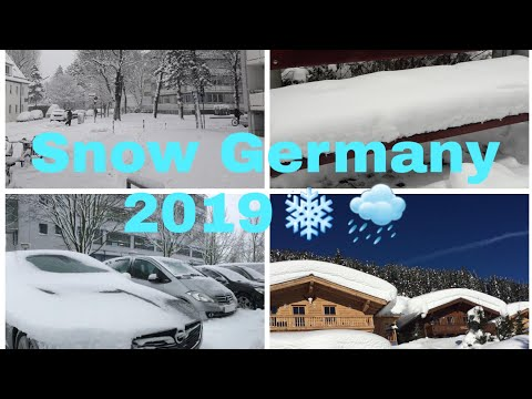 German Snow 2019/Extreme Weather 2019#Snowfall In Germany