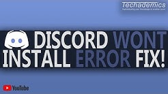 Discord Not Installing FIX | How To Fix Discord Installation Error/Fail