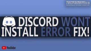 Gambar cover Discord Not Installing FIX | How To Fix Discord Installation Error/Fail