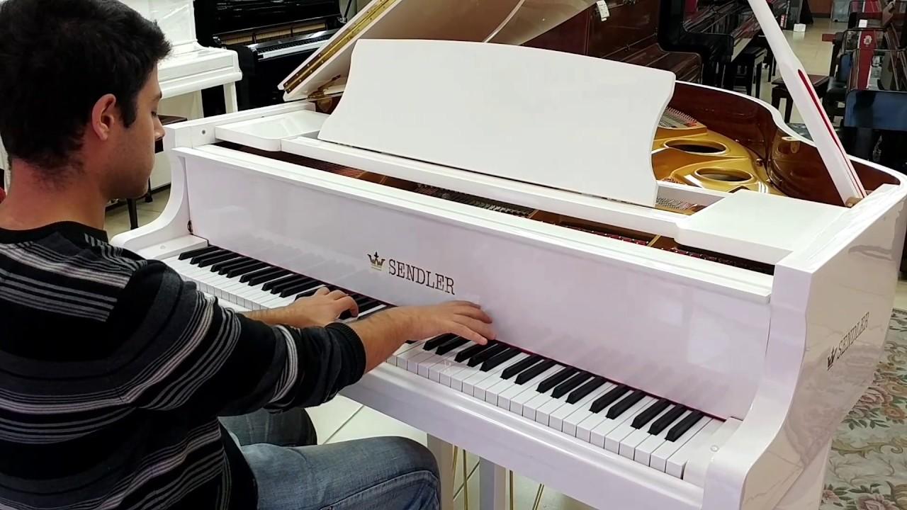סנסציוני פסנתר כנף לבן בייבי Sendler   פסנתרי הצפון - המרכז לפסנתרים UM-71
