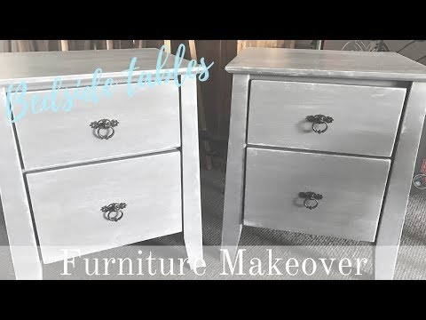 FURNITURE MAKEOVER | French Country Bedside Table (Chalkpaint & Dry Brush Technique)