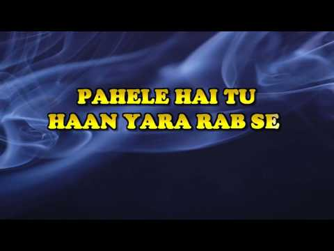 JANE DIL MEIN KAB SE HAI TU -  MUJHSE DOSTI KAROGE  -  HQ VIDEO LYRICS KARAOKE