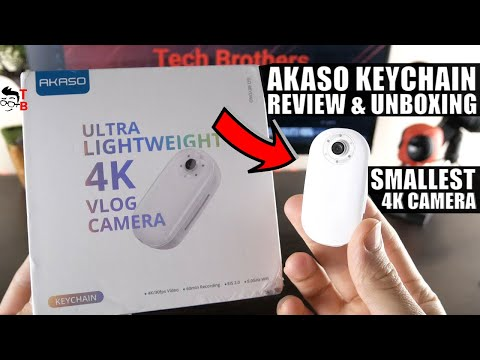 AKASO Keychain REVIEW: Tiny 4K Vlog Camera!