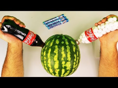 18 Smart Ideas / Cola vs Mentos with Watermelon