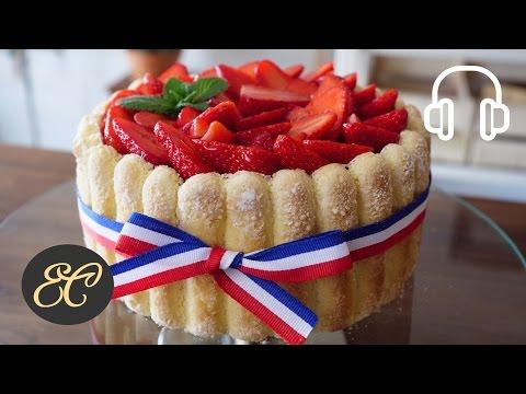 Strawberry Charlotte Cake Recipe  | 4K & Hi-Res ASMR Cooking sounds
