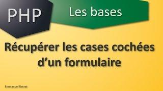 032 - PHP Les bases - Récupérer les cases cochées d'un formulaire HTML