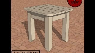 Chief's Shop Sketch Of The Day: Patio Side Table