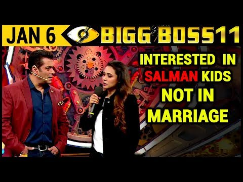 Rani Mukherjee Wants Salman Khan's Kids, Not Marriage Bigg Boss 11 | Day 97 | 6th January