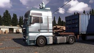 Euro Truck Simulator 2 - MAN TGX XXL Transporting Sawdust Panels